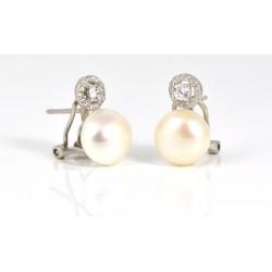 Pendientes de plata con perla