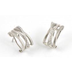 Pendientes de plata con zirconitas