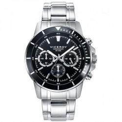 Reloj Viceroy 401041-57 de hombre NEW con caja y brazalete de acero Cronógrafo