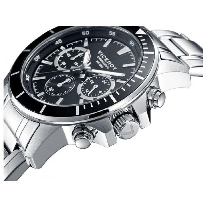 f4487afc6a2a Reloj Viceroy 401041-57 de hombre NEW con caja y brazalete de acero  Cronógrafo