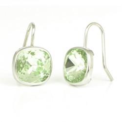 Pendientes plata piedra verde