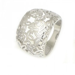 Anillo oro blanco18 kilates mariposas