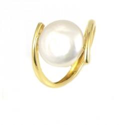 Anillo oro  18 kilates perla