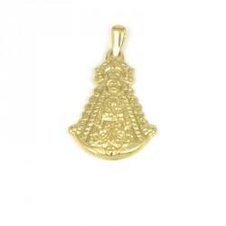Medalla de oro 18 kts virgen rocio