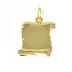 placa oro 18 klts pergamino
