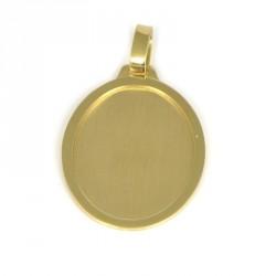 placa oro 18 klts ovalada