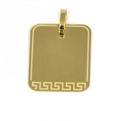 placa oro 18 klts greca