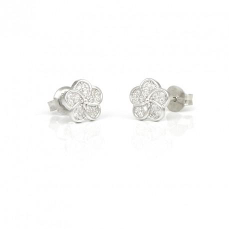 650abb8a10d1 Pendientes de plata flor