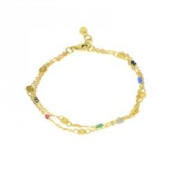 pulserade oro 18 kts piedras multicolor