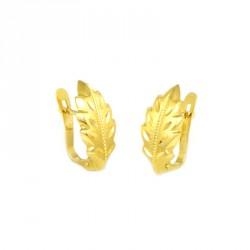 Pendientes oro  amarillo18 kts hoja