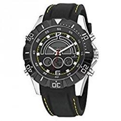 Reloj NOWLEY analogico-digital correa de caucho negro  8-5313-0-3