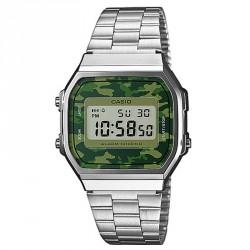 Reloj Casio plateado mimetizado A168WEC-3EF