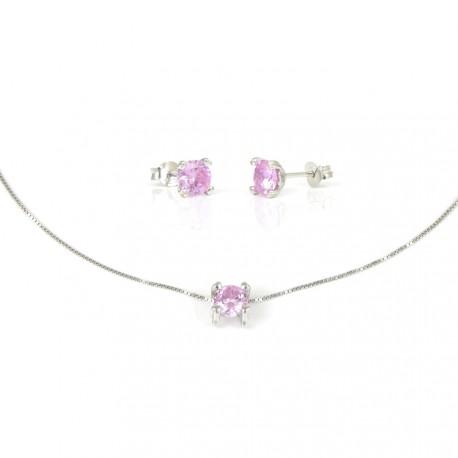 15a60d6af476 gargantilla-de-plata-con-pendientes-piedra-rosa