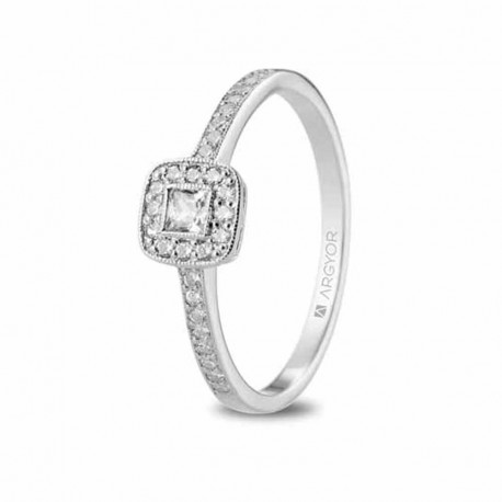da456bf23b0b Anillo oro blanco 18 kilates y diamantes