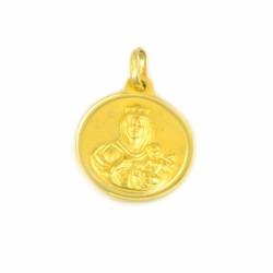 Medalla de oro 18 kts virgen del Carmen.