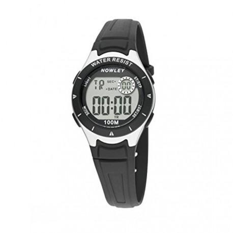 Reloj NOWLEY digital cadete correa de caucho negro  8-6177-0-4