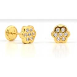 Pendientes de oro con circonitas