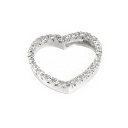 Colgante de oro 18 kts corazón con diamantes