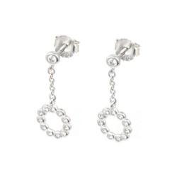 pendientes de plata cadena circonitas