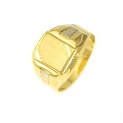 Anillo oro  18 kilates sello
