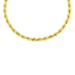 Cordón de oro 18 kts  semi macizo 5.5 milímetros