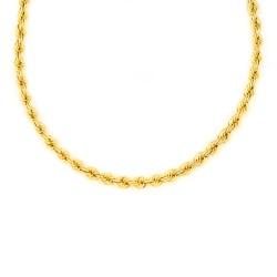Cordón de oro 18 kts  semi macizo 4.4 milímetros