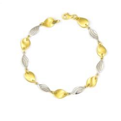 Pulsera oro 18 kts mujer bicolor