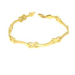 Pulsera oro amarillo 18 kts mujer