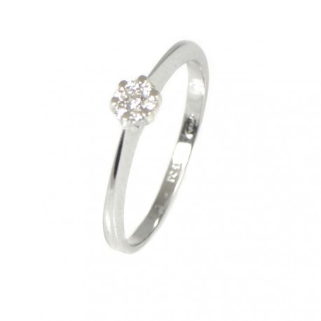 dae2941a14a9 Anillo oro blanco 18 kilates y diamantes
