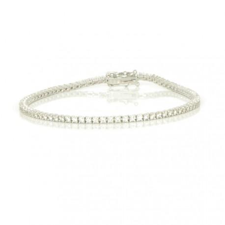 Pulsera diamantes oro 18 kts blanco mujer