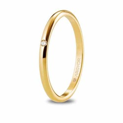Alianza de oro 18 kts amarillo diamante