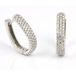 Pendientes oro blanco 18 kts con diamantes