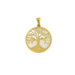 Colgante arbol de la vida oro amarillo de18 kts