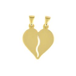 Colgante de oro 18 kts corazón partido