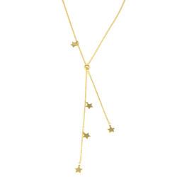 Gargantilla oro amarillo 18kts estrellas