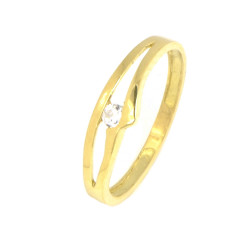 Anillo oro amarillo 18 kilates circonita