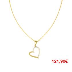 Gargantilla oro amarillo 18kts corazón