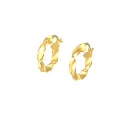 Pendientes oro amarillo 18 kts aro rizados