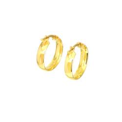 Pendientes aros oro amarillo 18 kts