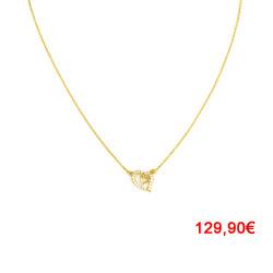 Gargantilla oro amarillo 18kts corazón circonitas