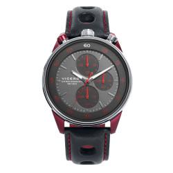Reloj Viceroy 46763-54 de hombre con caja de acero-aluminio rojo y correa de piel