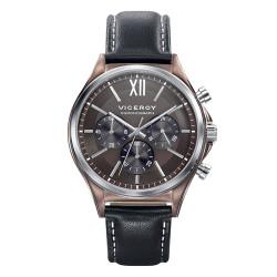 Reloj Viceroy 471109-43 de hombre NEW con caja de acero  y correa de piel marrón Magnum