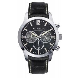 Reloj Viceroy 432245-55 de hombre NEW con caja de acero y correa de piel