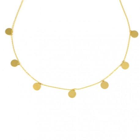 Gargantilla círculos oro amarillo 18kts