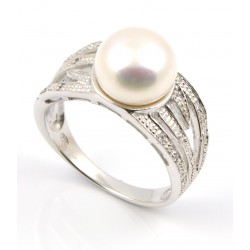 Anillo plata perla