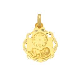 Colgante de oro 18 kts bebé reloj