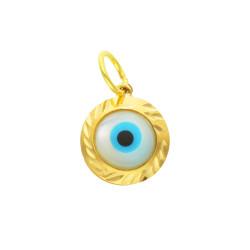 Colgante oro amarillo de18 kts ojo turco