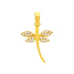 Colgante oro amarillo de18 kts libélula
