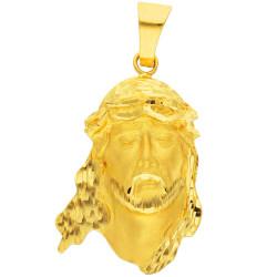 Colgante de oro 18 kts cabeza de cristo