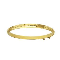 Pulsera oro amarillo 18 kts rígida tallada